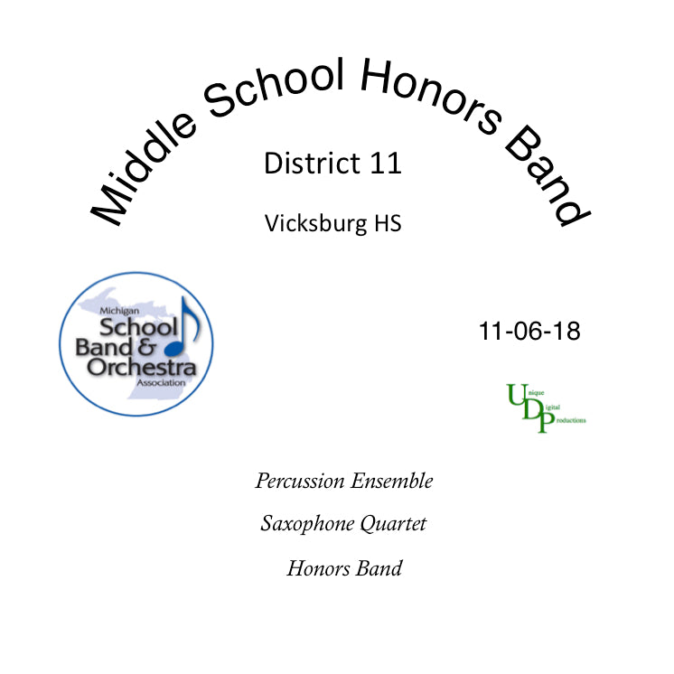 2018 District XI Middle School Honors Concert  -  CD