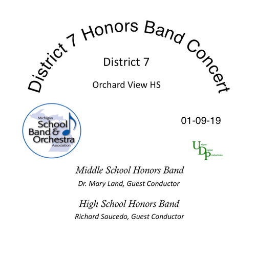 2019 District 7 Honors Bands Concert  CD