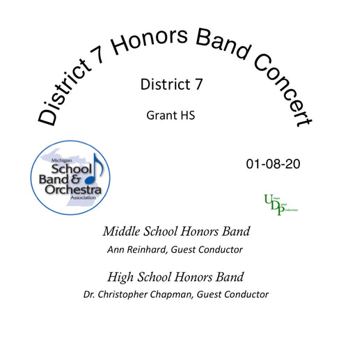 01-08-20 District 7 Honors Bands Concert  CD