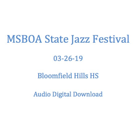 Bloomfield Hills HS Jazz Lab Band