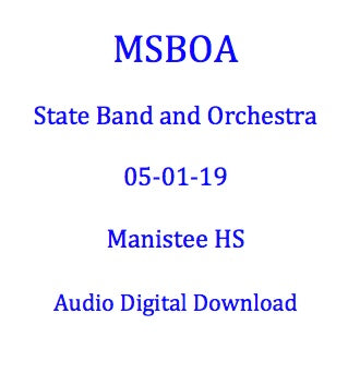 2019 Manistee MS 8th Grade Band