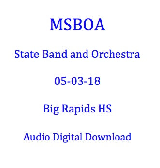 Big Rapids HS Concert Band
