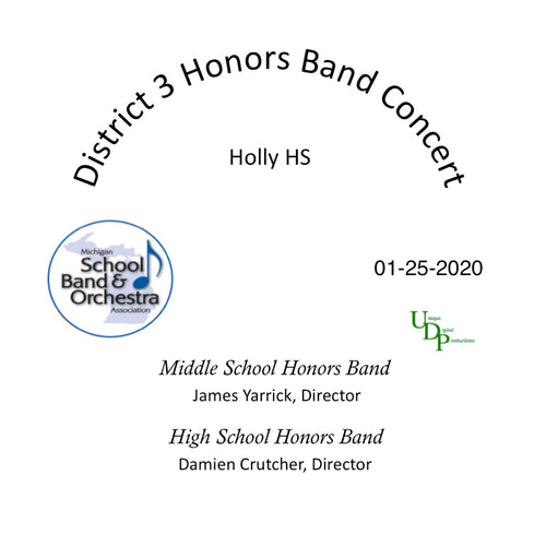 01/25/20 District 3 Honors Bands Concert