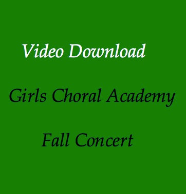 Girls Choral Academy Digital Download