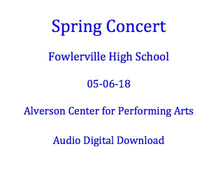 Fowlerville HS Spring Concert