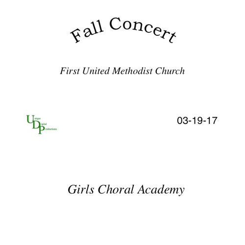 Girls Choral Academy CD
