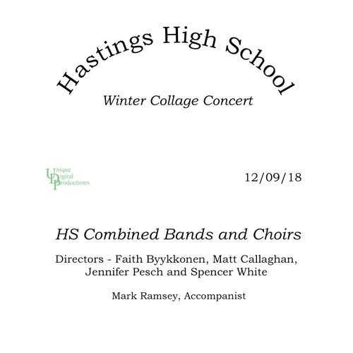 2018 Hastings High School Winter Collage Concert