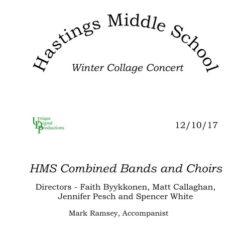 Hastings Middle School Winter Collage Concert