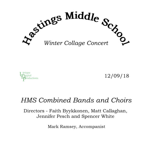 2018 Hastings Middle School Winter Collage Concert