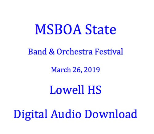 2019 Lowell HS Symphony Orchestra