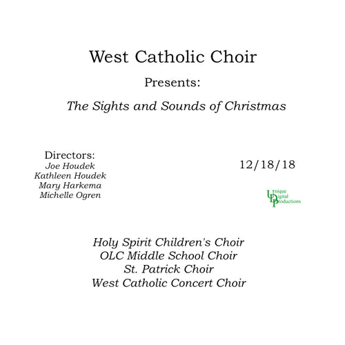 2018 West Catholic High School Choral Holiday Concert