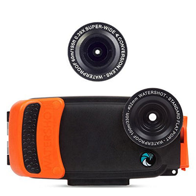 Watershot PRO Underwater Smart Phone Camera Housing Kit for iPhone 6/6s (flat + wide angle lens)
