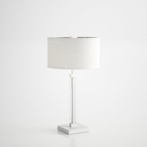 White Glass Lamp