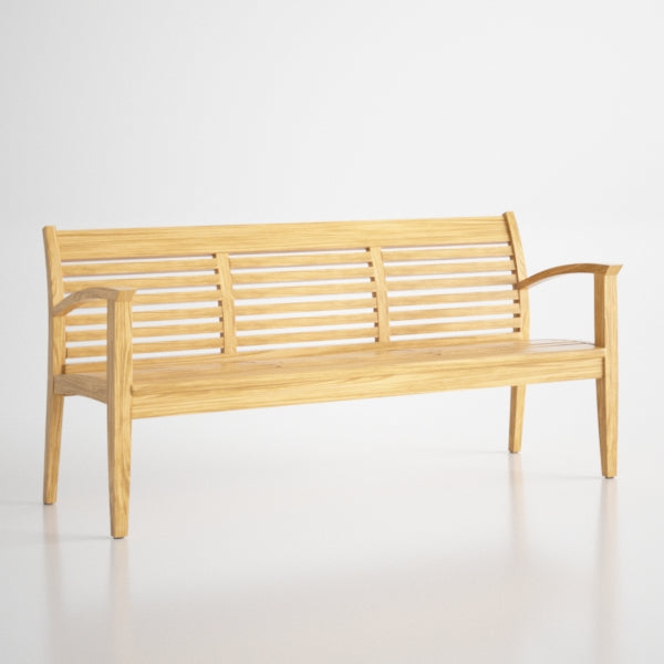 Landscape Forms Wellspring Wood Bench