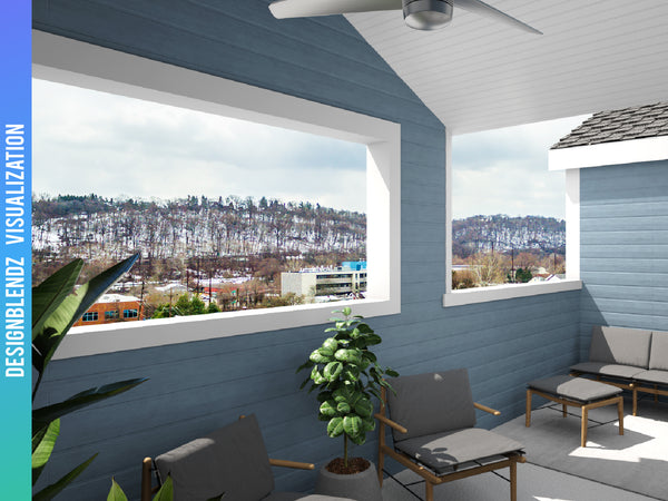 Rendering: Residential Roof Deck