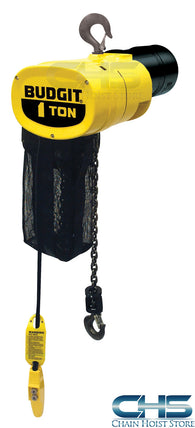 1 Ton Budgit Man Guard Electric Chain Hoist - 16 fpm
