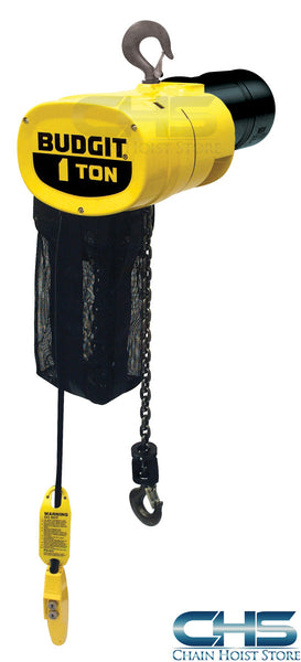 1 Ton Budgit Man Guard Electric Chain Hoist - 32 fpm