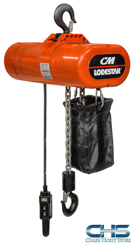 1/4 Ton CM Lodestar Electric Chain Hoist - 32fpm