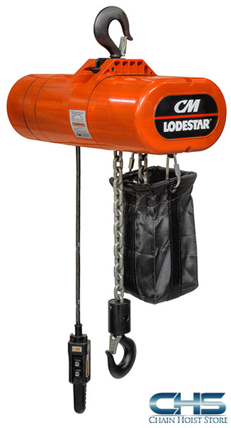 1 Ton CM Lodestar Electric Chain Hoist - 16fpm