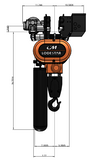 3 Ton CM Lodestar Electric Chain Hoist - 5.5fpm