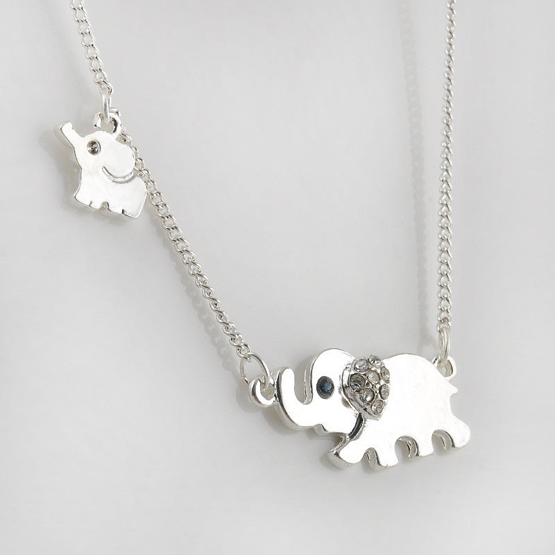 Elephant Mom & Baby Necklace