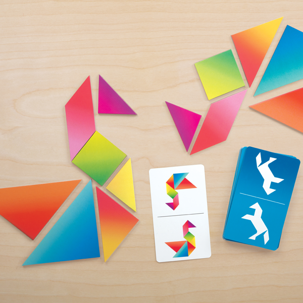Tangram Race is a fresh take on the classic geometric puzzle game that teaches spatial relationships, geometry, and problem-solving in a fun way!