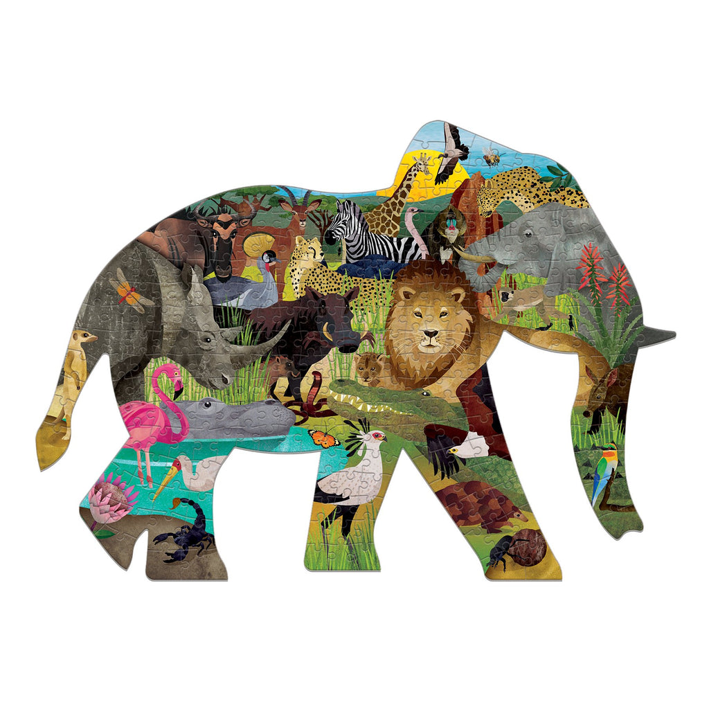 African Safari 300 Piece Shaped Puzzle 300 piece shaped scene puzzles Mudpuppy