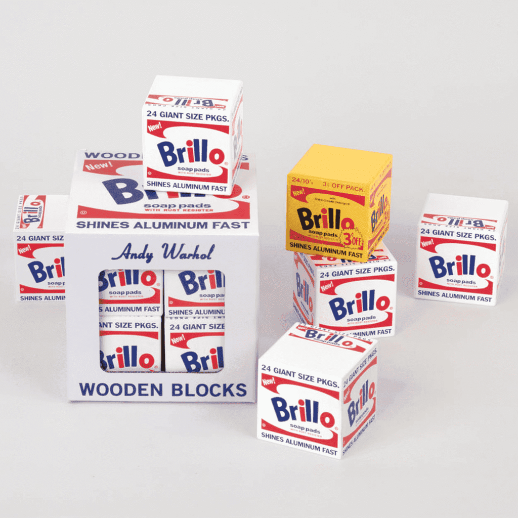 Andy Warhol Brillo Wooden Blocks Wooden Blocks Mudpuppy
