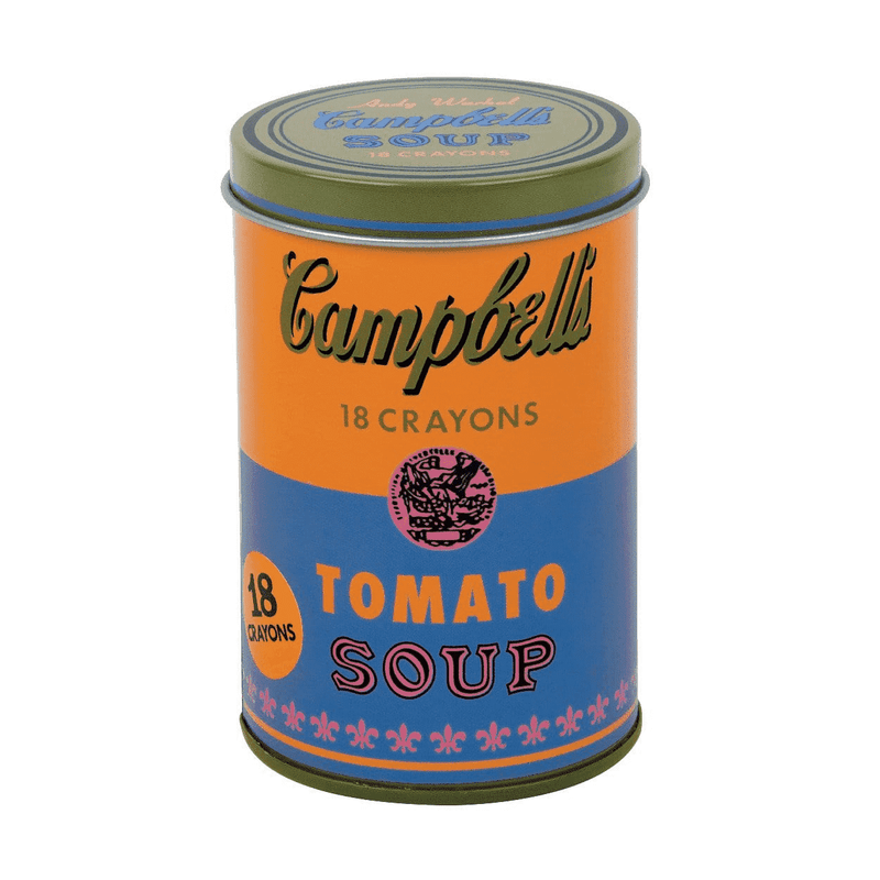 Andy Warhol Soup Can Crayons Orange Crayons Mudpuppy