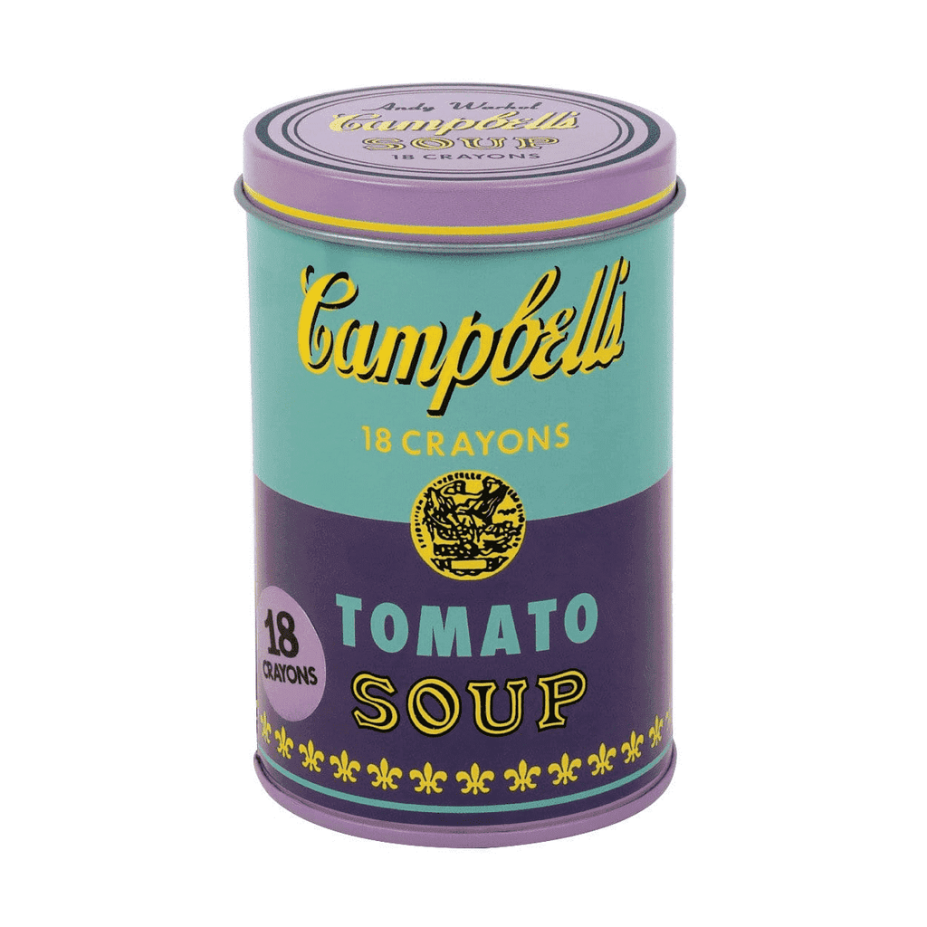 Andy Warhol Soup Can Crayons Purple Crayons Mudpuppy