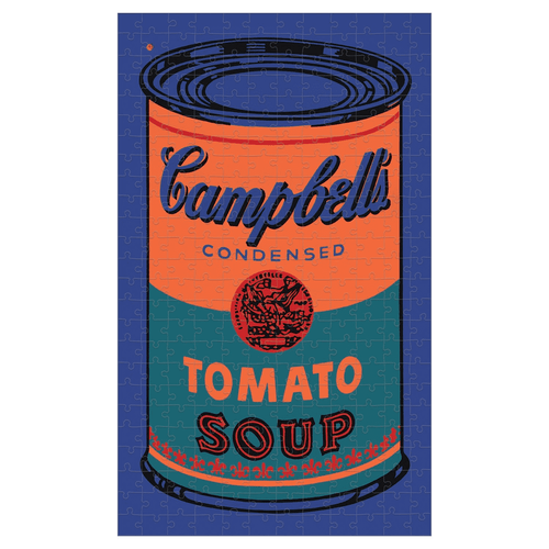 Andy Warhol Soup Can Orange 300 Piece Tin Puzzle 300 Piece Tin Puzzles Mudpuppy