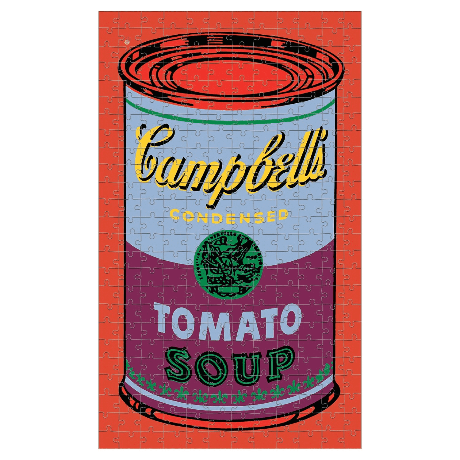 Andy Warhol Soup Can Red Violet 300 Piece Puzzle | Mudpuppy