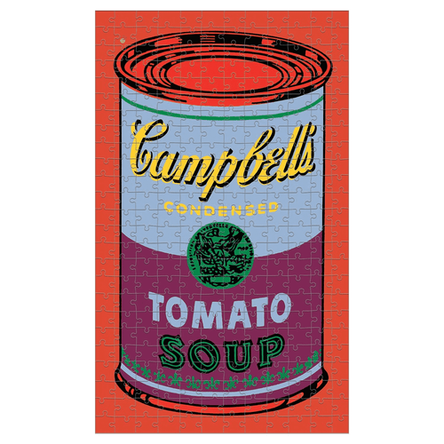 Andy Warhol Soup Can Red Violet 300 Piece Tin Puzzle 300 Piece Tin Puzzles Mudpuppy