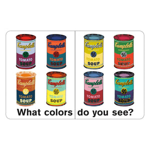 Andy Warhol What Colors Do You See? Board Book Board Books Mudpuppy