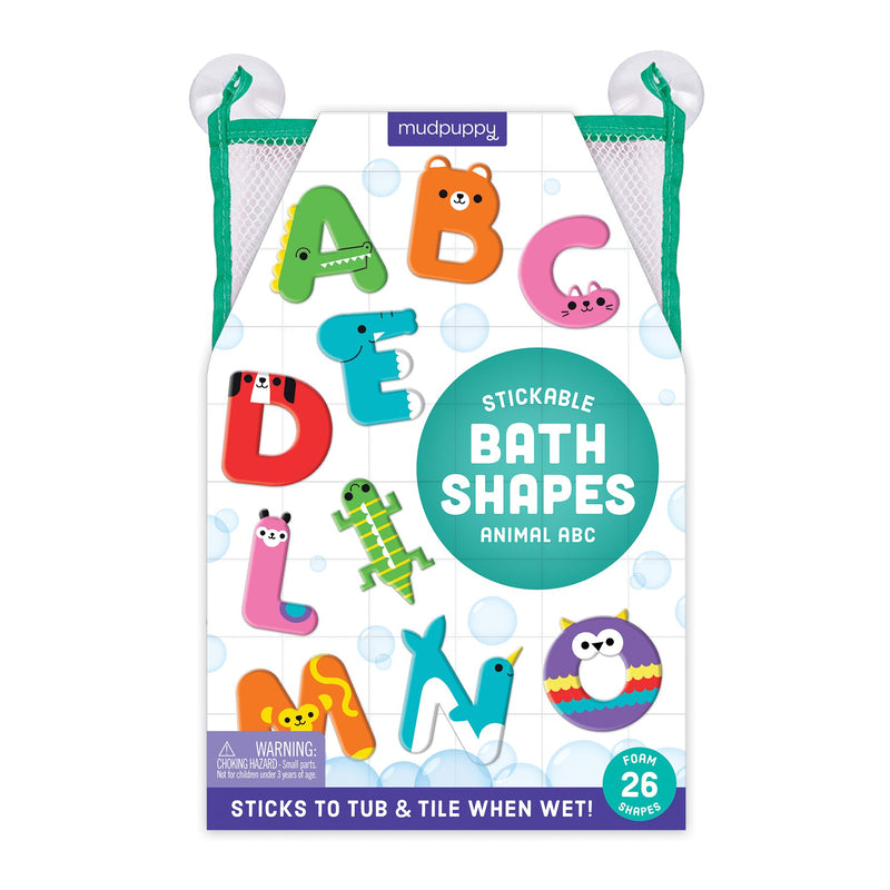 Animal ABC Stickable Foam Bath Shapes Foam Bath Shapes Mudpuppy