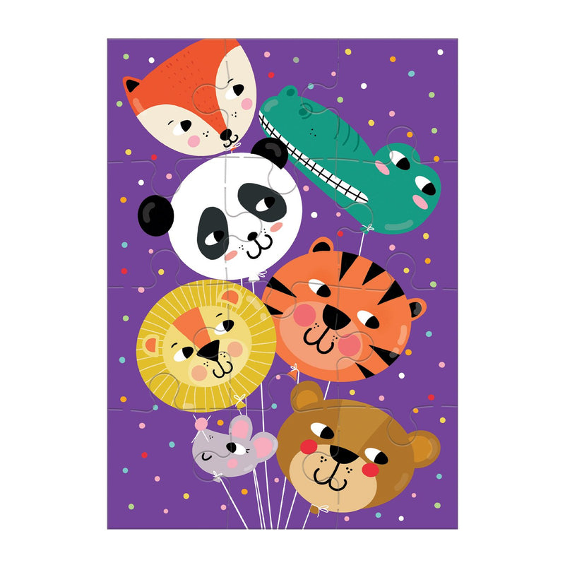 Animal Balloons Greeting Card Puzzle Greeting Card Puzzles Mudpuppy