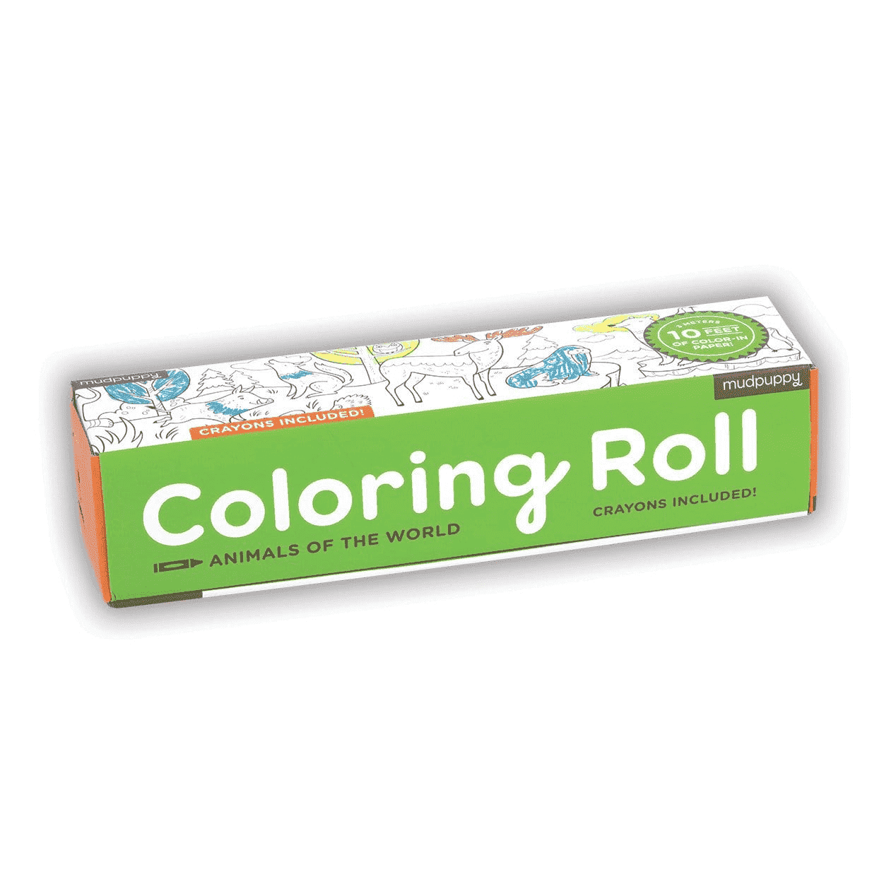 Animals Of The World Coloring Roll | Mudpuppy