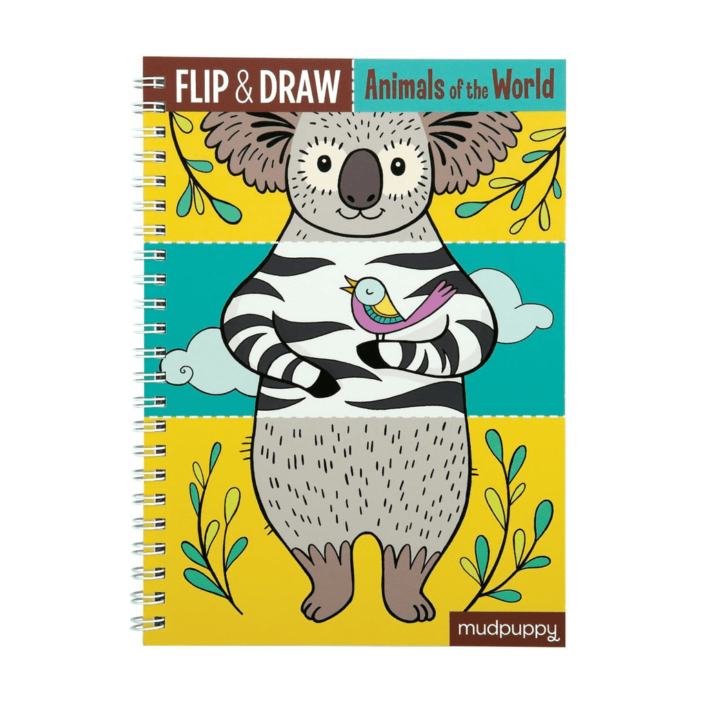 Animals Of The World Flip & Draw Flip & Draws Mudpuppy
