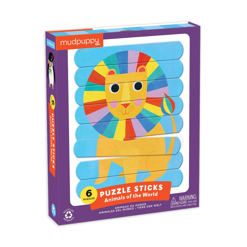 Animals of the World Puzzle Sticks Puzzle Sticks Mudpuppy