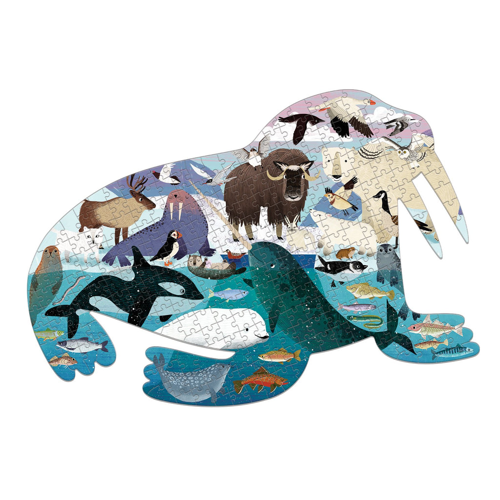 Arctic Life 300 Piece Shaped Scene Puzzle 300 piece shaped scene puzzles Mudpuppy