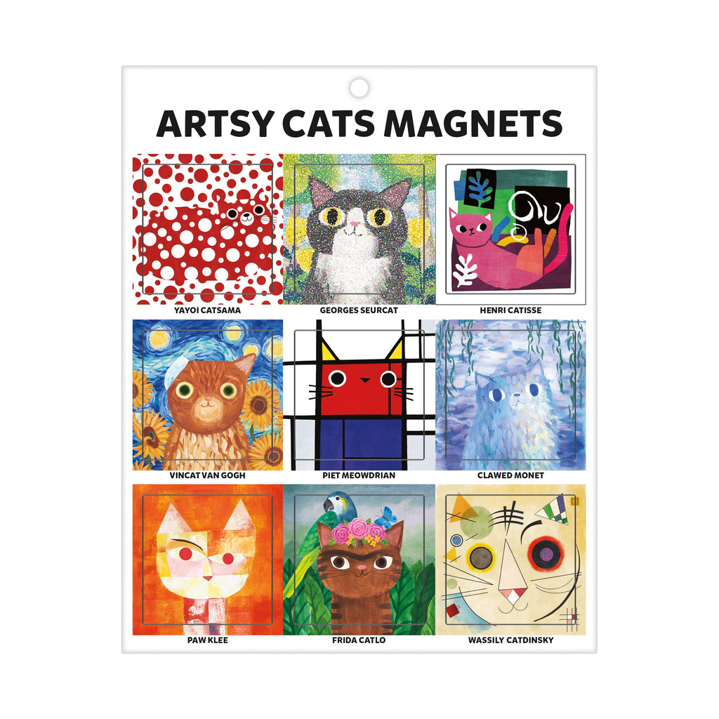 Artsy Cats Magnets Magnets Mudpuppy