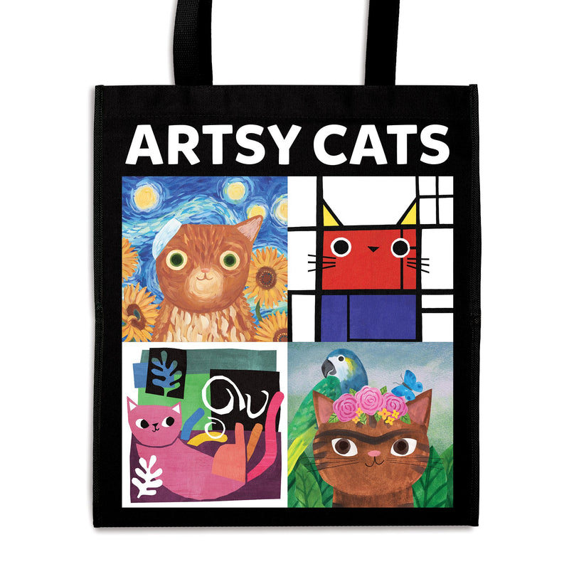 Artsy Cats Reusable Shopping Bag Tote Bags Bookish & Artsy Cats Collection