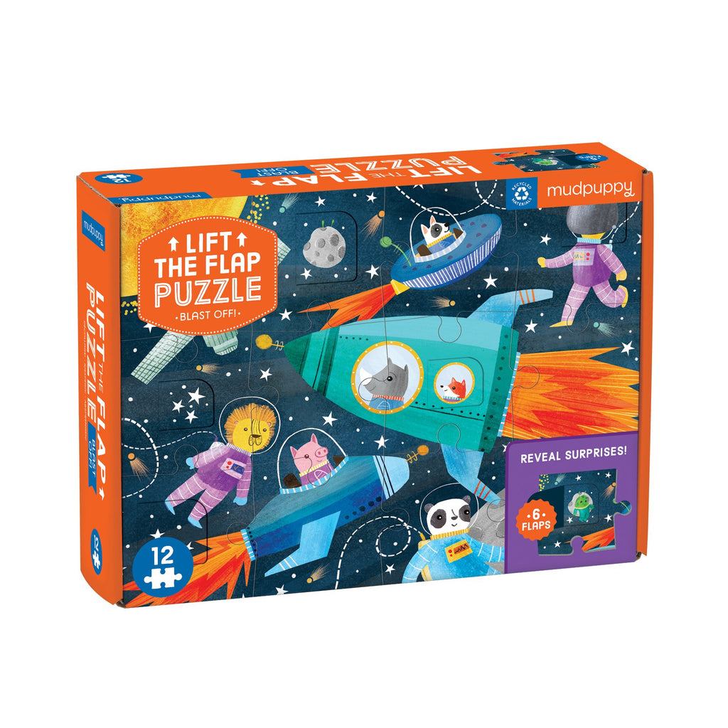 Blast Off! Lift-the-Flap Puzzle Lift-the-Flap Puzzles Mudpuppy