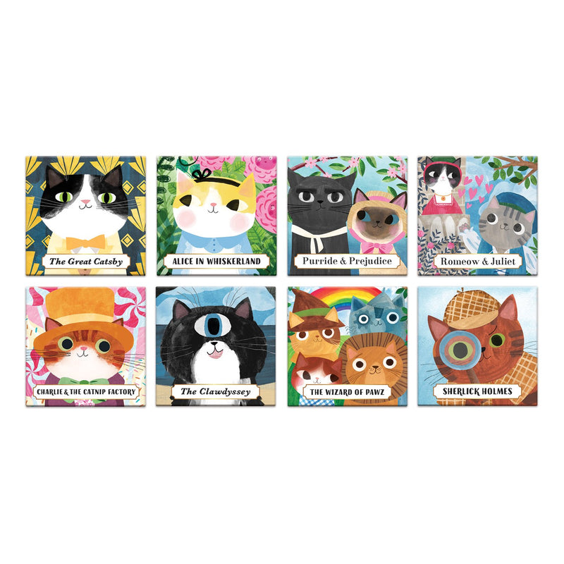 Bookish Cats Magnets Box of Magnets Bookish & Artsy Cats Collection