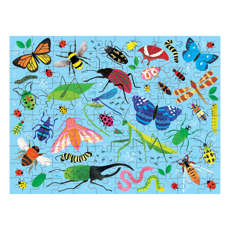 Bugs & Birds 100 Piece Double-Sided Puzzle 100 Piece Double-Sided Puzzles Mudpuppy