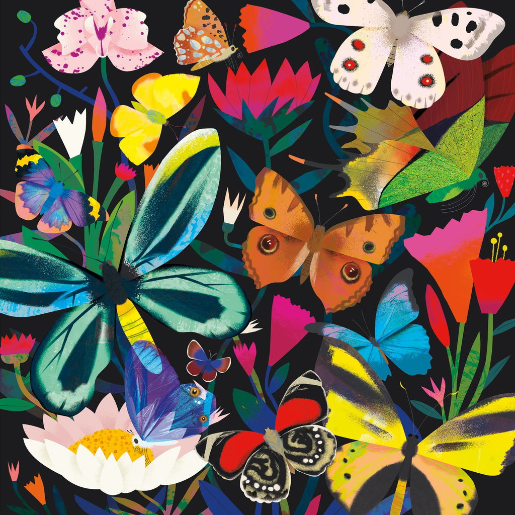 Butterflies Illuminated 500 Piece Glow in the Dark Family Puzzle Glow in the Dark Puzzles Mudpuppy
