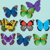 Butterflies Shaped Memory Match Shaped Memory Match Mudpuppy