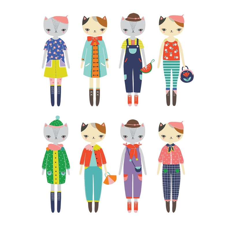 Cat Fashion Magnetic Dress-up Magnetic Tin Playsets Mudpuppy