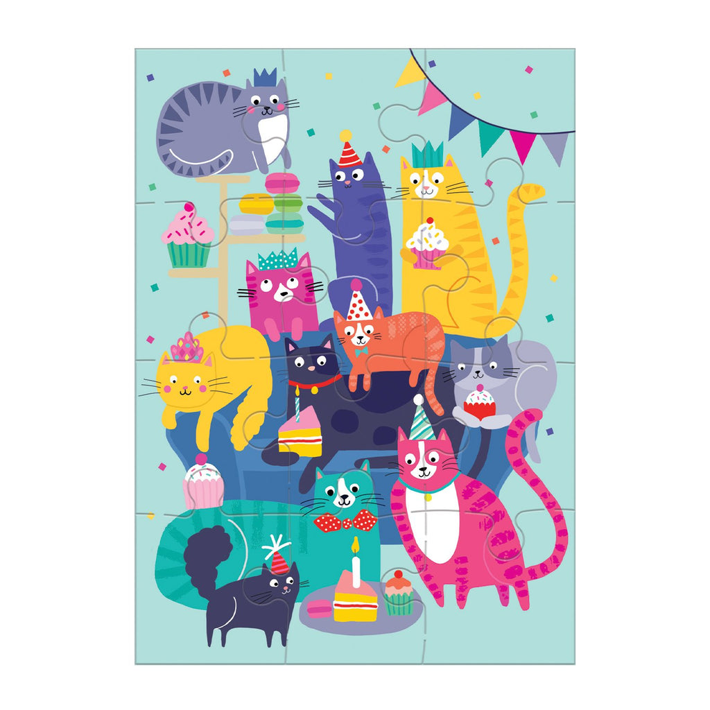Cat Party Greeting Card Puzzle Greeting Card Puzzles Mudpuppy