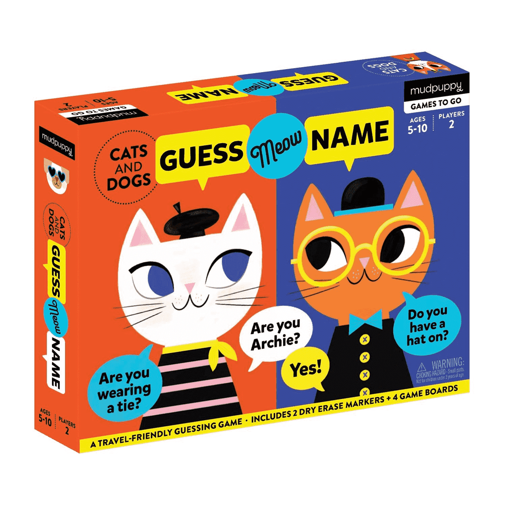 Cats And Dogs Guess Meow Name Guessing Games Mudpuppy